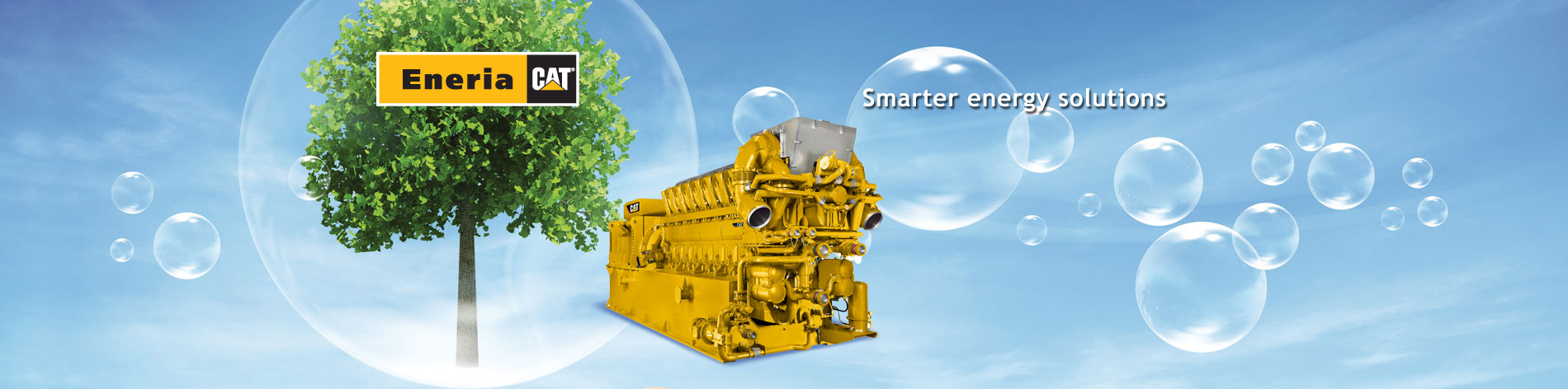 Whether gas or biogas, from 130 kWe to 4,300 kWe we install Caterpillar generator sets that meet your heating, cooling or power needs.